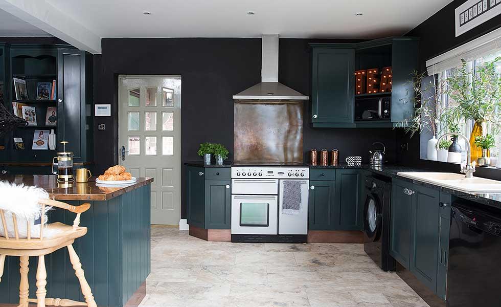 dark modern kitchen