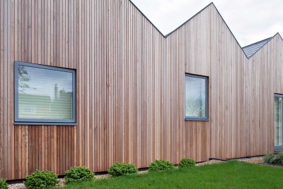 fabric first timber clad house by Mole Architects