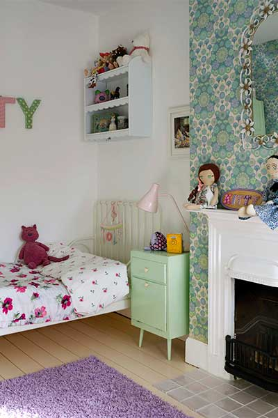 Vintage style little girl's room