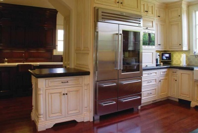 osborne unfinished cabinetry kitchen american fridge interior