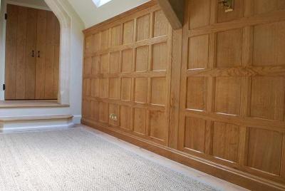deacon sandys landing hallway wooden wall panels