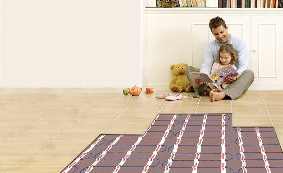 Warmup sticky mat underfloor heating
