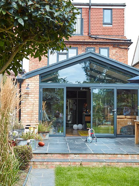 industrial style kitchen extension exterior