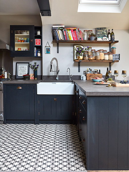 industrial style extension kitchen units and sink