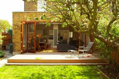 architect your home garden view bi fold doors decking