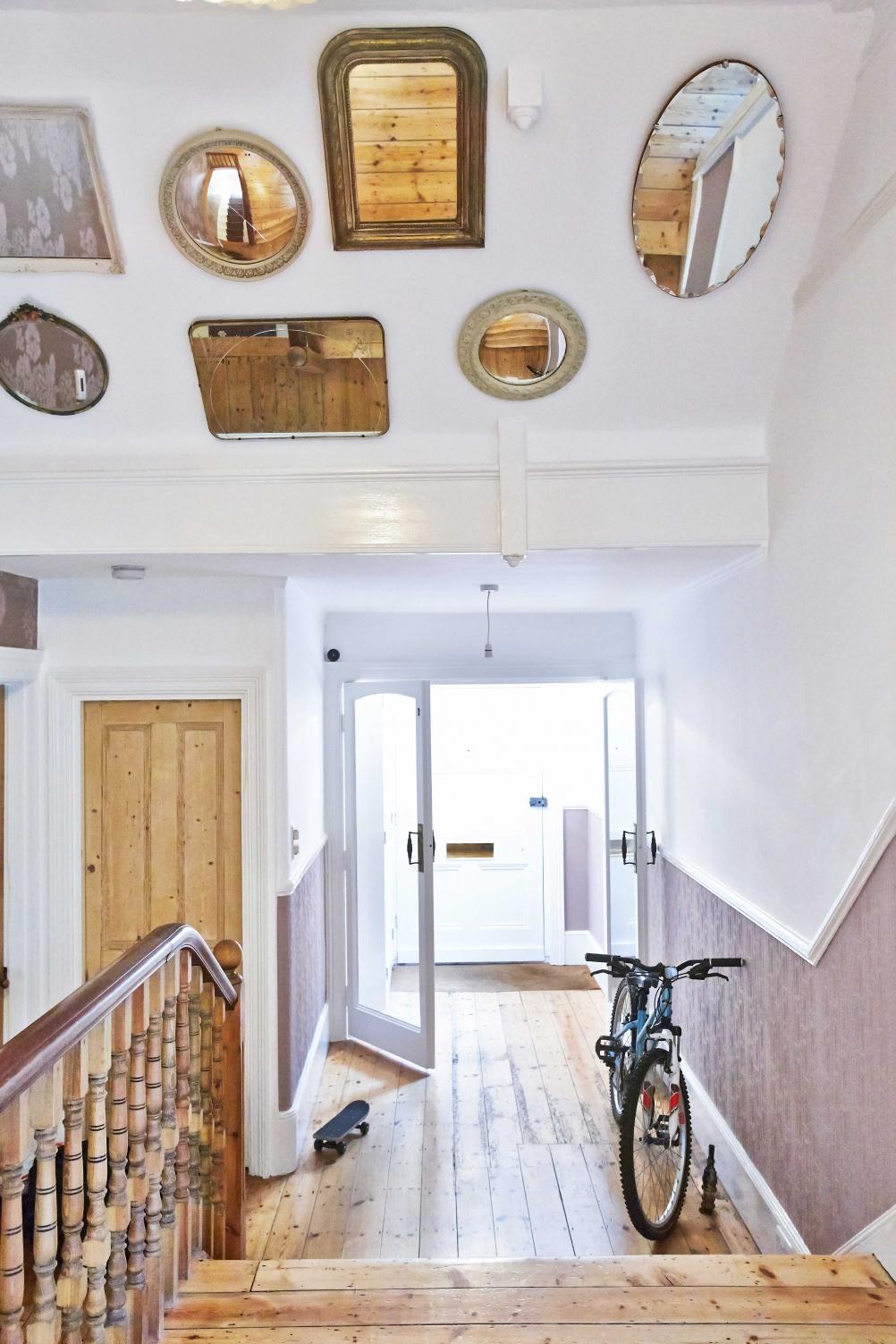Anitque_mirrors_wooden_hallway
