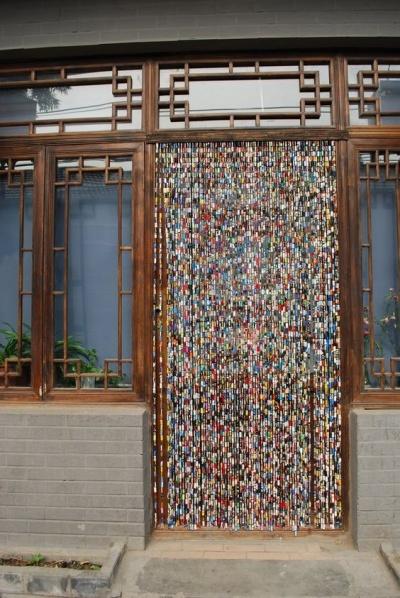 beads in an interior doorway
