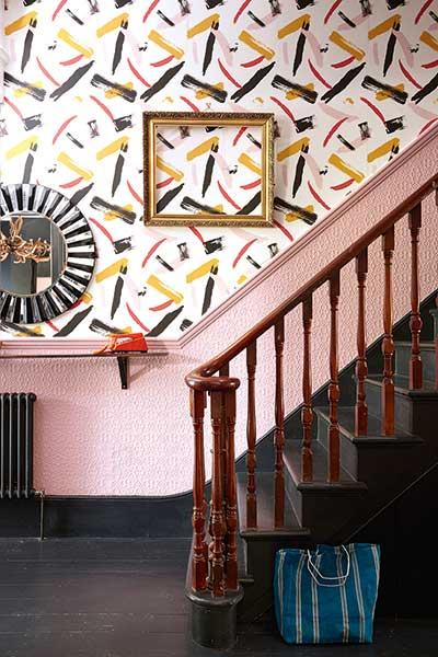pink_paint_strokes_hallway