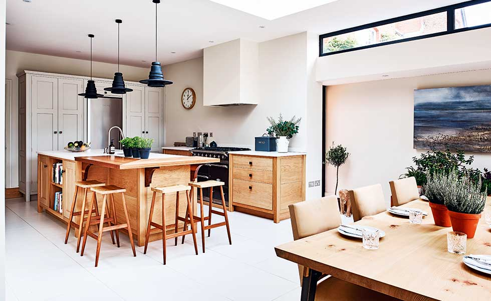 scandi style kitchen in a renovation project in Abingdon