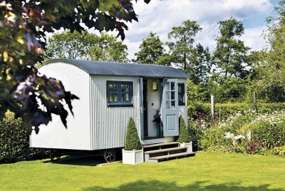 A shepherd's hut is a mobile garden room