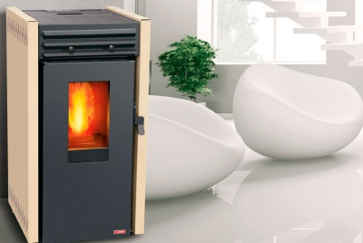 BioAmore pellet stoves available in Grey, Ivory and Black