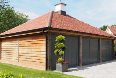 heritage oak frames 3 door garage parking home storage