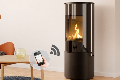Omega - Smart wood burning stove that you can control via your phone or tablet