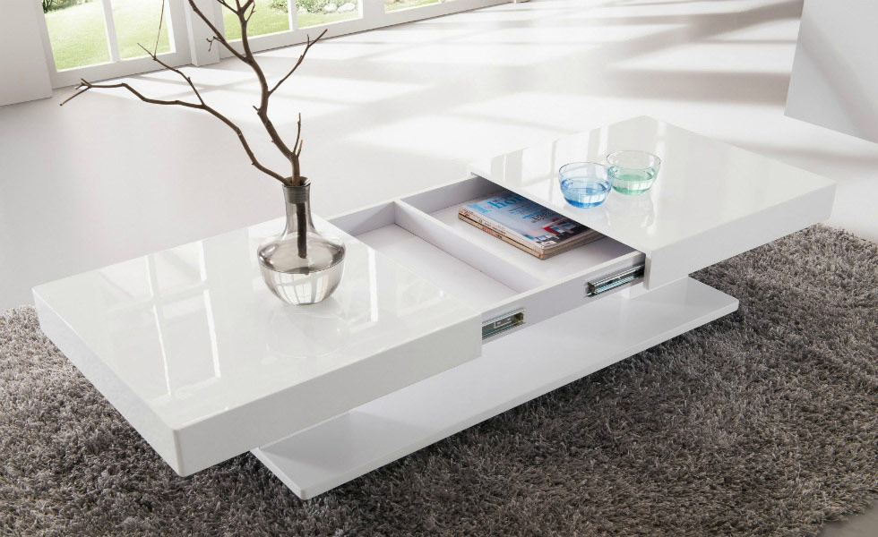 Concealed storage space in the Verona coffee table, makes it the perfect choice for minimalist living spaces. Priced at £249.95