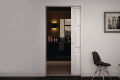 The KLÜG Ultra Pocket Door Kit is ideal for room dividers, en-suites and closets