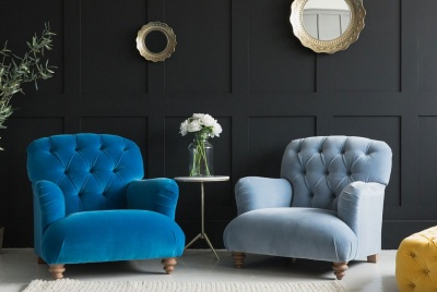 rose & grey furniture two blue dimple armchair