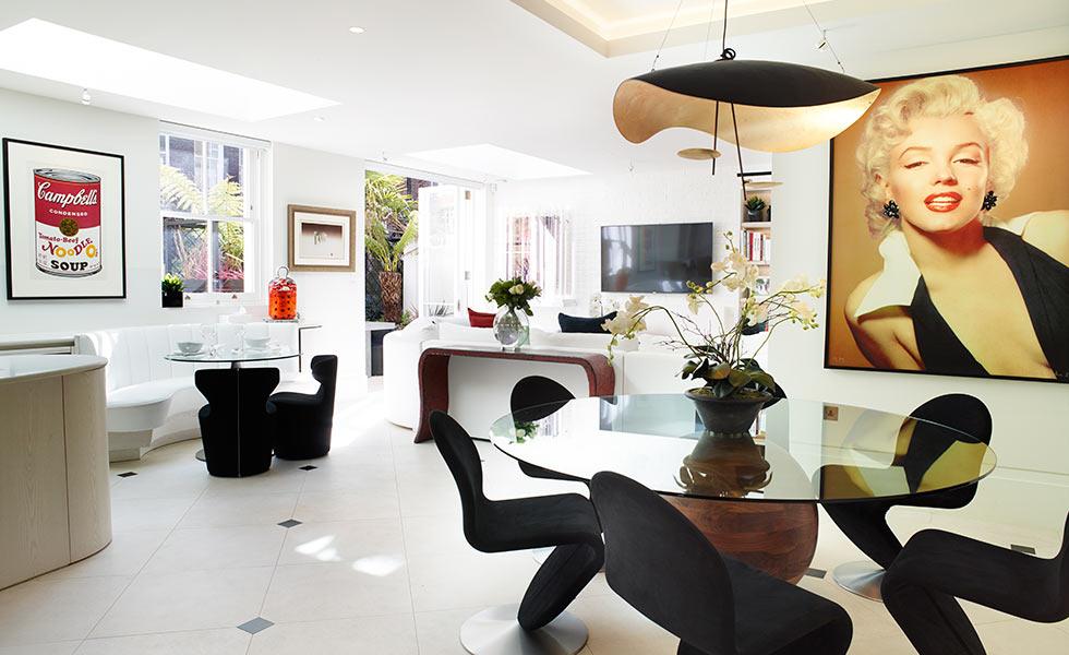Glazing vision Flush rooflights for kitchen interior