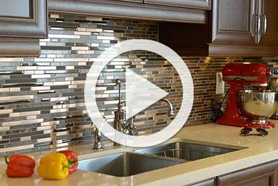 tiling a splash back with play button