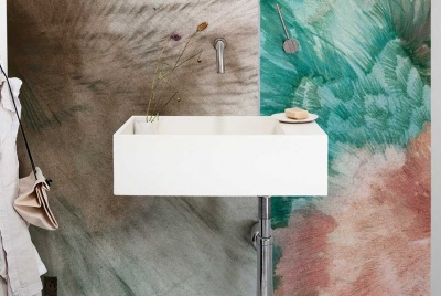 unusual materials for bathrooms
