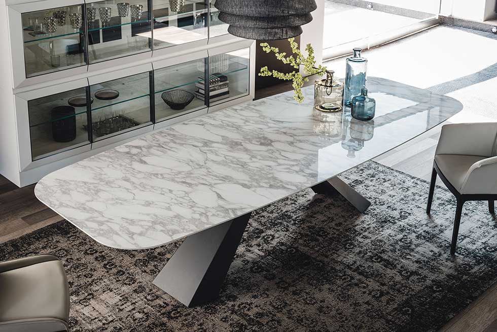 The Eliot ceramic dining table from IQ Furniture