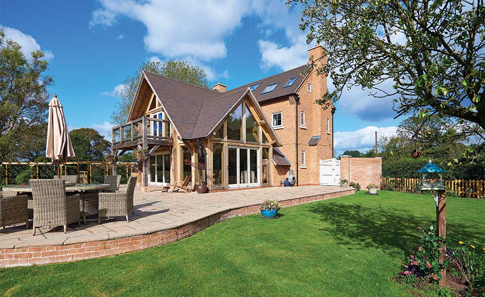 How to add a timber frame extension real homes for Single story timber frame homes