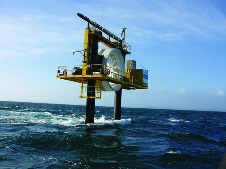 OpenHydro's quarter scale tidal generator at the falls of Warness