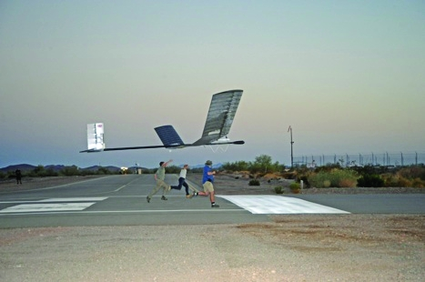 Launched by hand, QInetiq's Zephyr UAV could have military reconnaissance applications