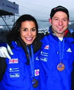 Kristan Bromley and fellow skeleton bobsleigher (and wife) Shelley Rudman