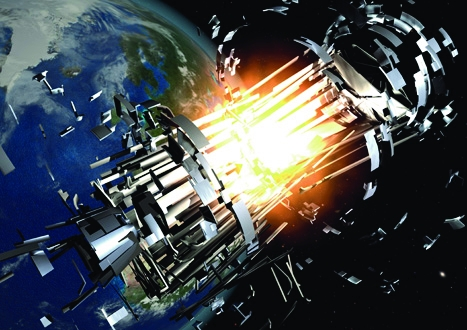 Exploding launch stages from rockets are a prime cause of space junk