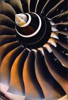 The Rolls Royce Trent 1000 jet engine
