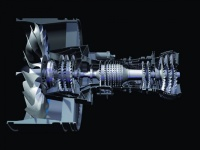 The Pratt & Whitney PurePower is one of the first commercial geared turbofan jet engines