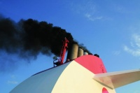 Annual shipping emissions have now topped a billion tonnes of C)2