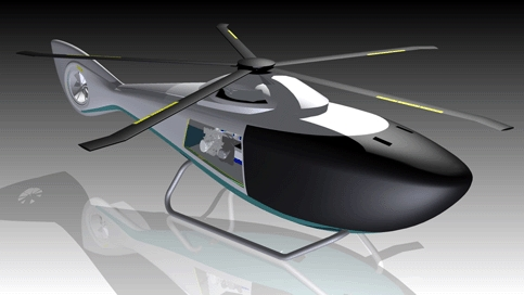 Diesel-electric hybrid propulsion system for helicopters