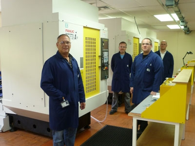 Flann's micro-milling cell and engineers