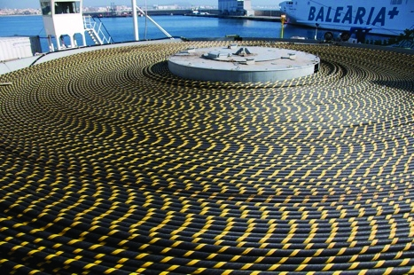 Weighing 6,850 tonnes, the 237km section of cable is the longest section of cable ever use for a subsea interconnection