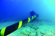 Divers began laying the first subsea cable in the middle of January 2011