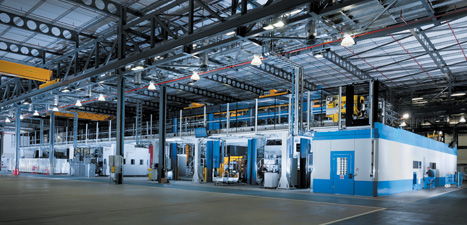 All operations at the plant are carried out in a centralised area