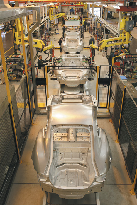 Castle Bromwich plant:parts are ready on the production floor