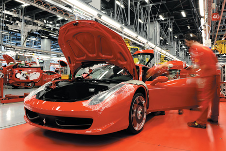 Maranello plant:Ferraris are developed in line with strict performance criteria