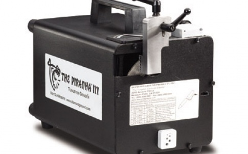 The Piranha III Tungsten Grinder offers longitudinal grinding for maximum arc stability