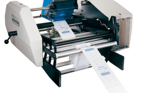 The PI 412c printer from Automated Packaging Systems is capable of imprinting at speeds of up to 30cm/sec, equivalent to approximately 80 bags per minute