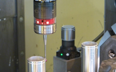 This image shows the TC52 probe and the Z-Nano tool probe in use
