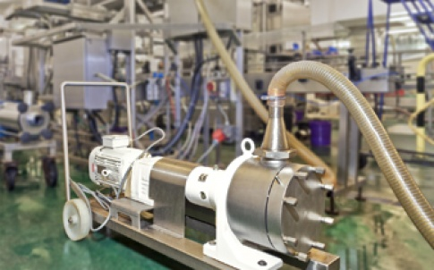 The Masosine pump is used to transfer various food products from an IBC to depositor feed hoppers on the filling lines