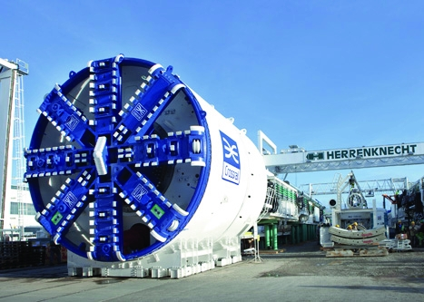 One of the tunnel-boring machines that will be used to construct Crossrail