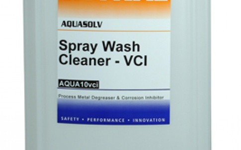 The Aquasolv cleaning agent from Mykal helps to prevent corrosion