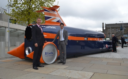 BLOODHOUND driver Andy Green and Yan Tiefenbrun from Castle Precision Engineering.JPG