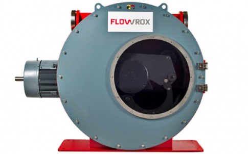 The Flowrox LPP-T100 hose pump will be shown at the Achema exhibition in Germany