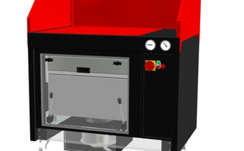 The FB700 II MkII filter bench is shown here in black and red