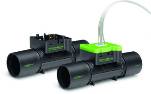 The flowmeter features a digital two-wire interface, making it straightforward to connect directly to a microcontroller