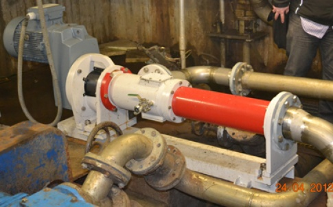 Flowrox's EL100/6 progressive cavity pump is being used at a wastewater treatment plant in Lappeenranta, Finland